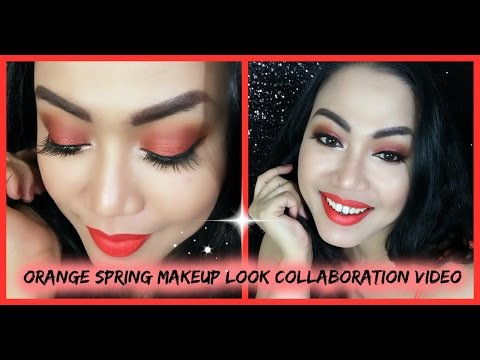 SIMPLE ORANGE SPRING MAKEUP LOOK COLLABORATION VIDEO     Candy's Rouge