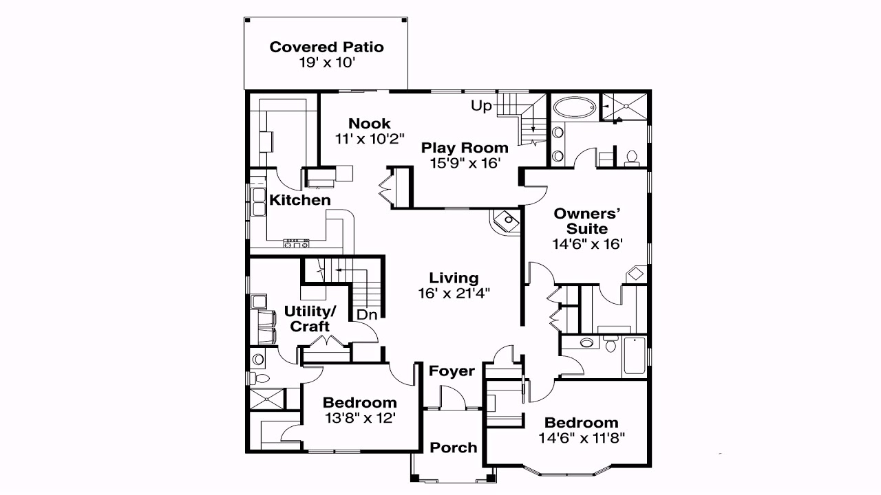 House Plans Without Garage: Home Floor Plans Without Garage
