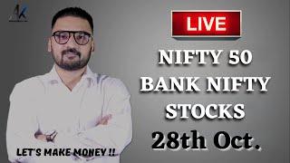 28 Oct 2021 - Live  Ntraday Analysis Bank Nifty Live Analysis Nifty Today Analysis Live