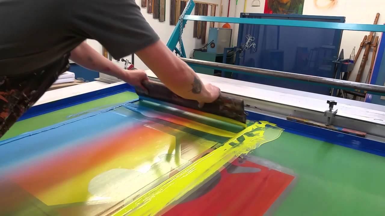 Seth Over the Rainbow Screen Print Process YouTube