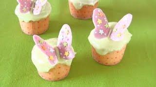 Spring Pastel Butterfly Cupcakes (Easter Recipe) ちょうちょのカップケーキ (レシピ)