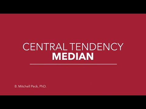 Social Statistics - Central Tendency Median