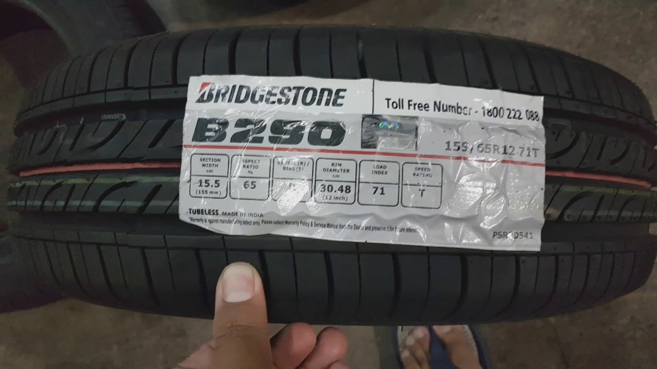 TATA NANO TYRE CHANGE AND NEW BRIDGESTONE TYRE