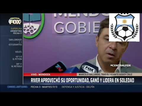 Marcelo Gallardo analiza el triunfo ante Godoy Cruz