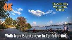 Walk from Blankenese to Teufelsbrück 4K UHD - Hamburg Walking Tour