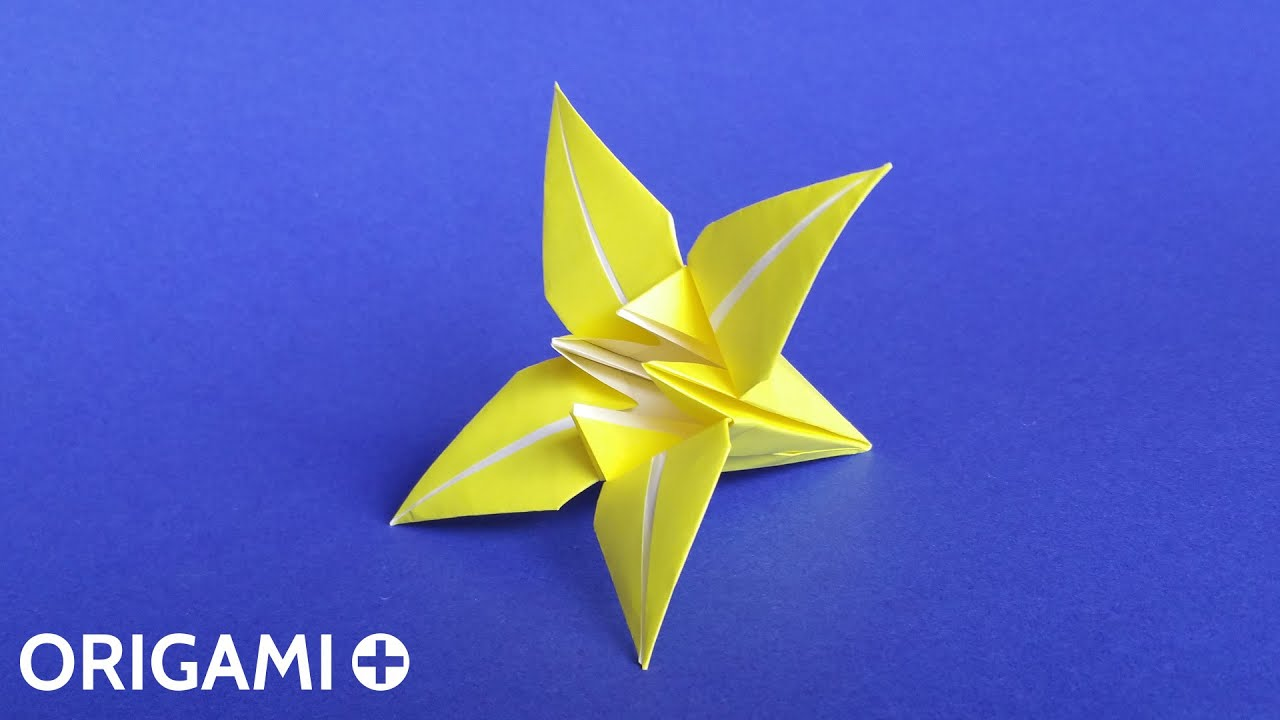 Origami - How to Make a Lily/Iris Flower - HD - YouTube | 720x1280