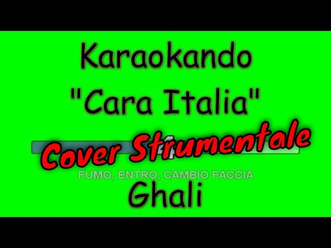 Karaoke Italia - Cara Italia - Ghali  Testo