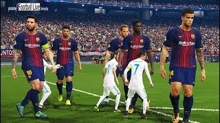 Cover images PES 2018 | GIANT players Barcelona vs TINY players Real Madrid | Gameplay PC