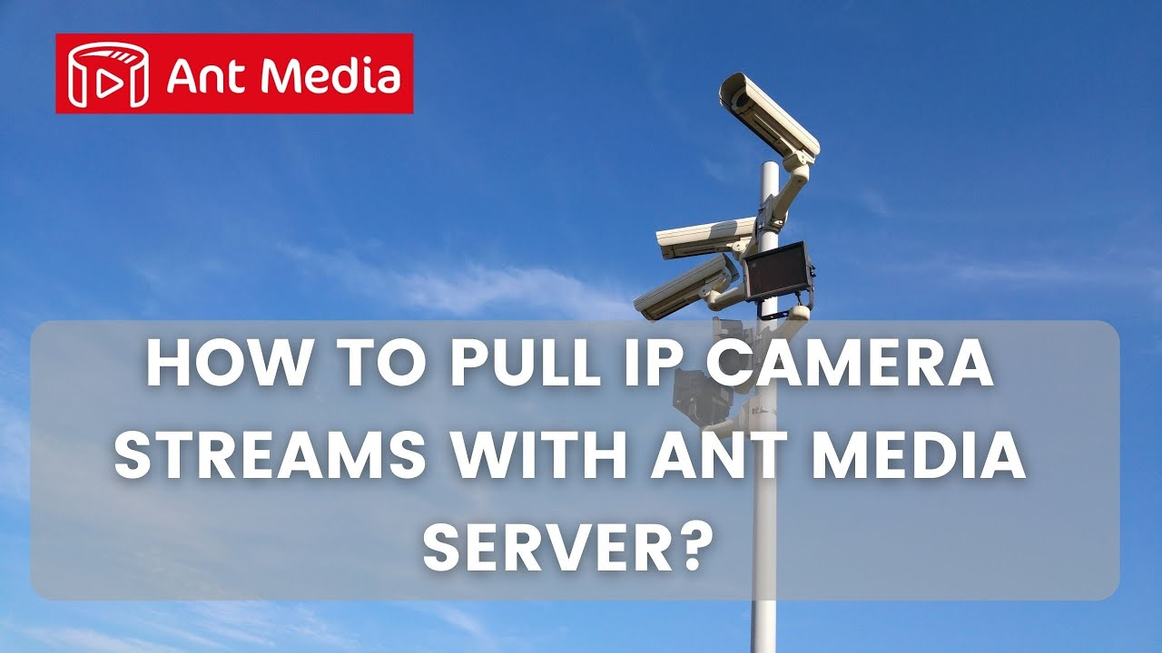 How to Pull IP Camera Streams with Ant Media Server?