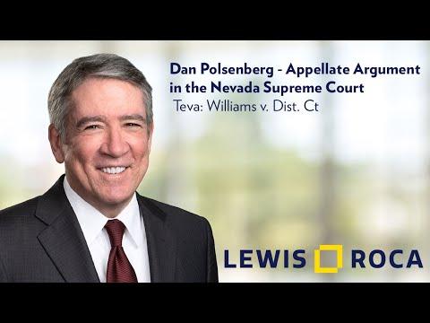 Dan Polsenberg's Appellate Argument in the Nevada Supreme Court - Teva: Williams v. Dist. Ct