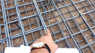 Steel bar over lapping in raft foundation