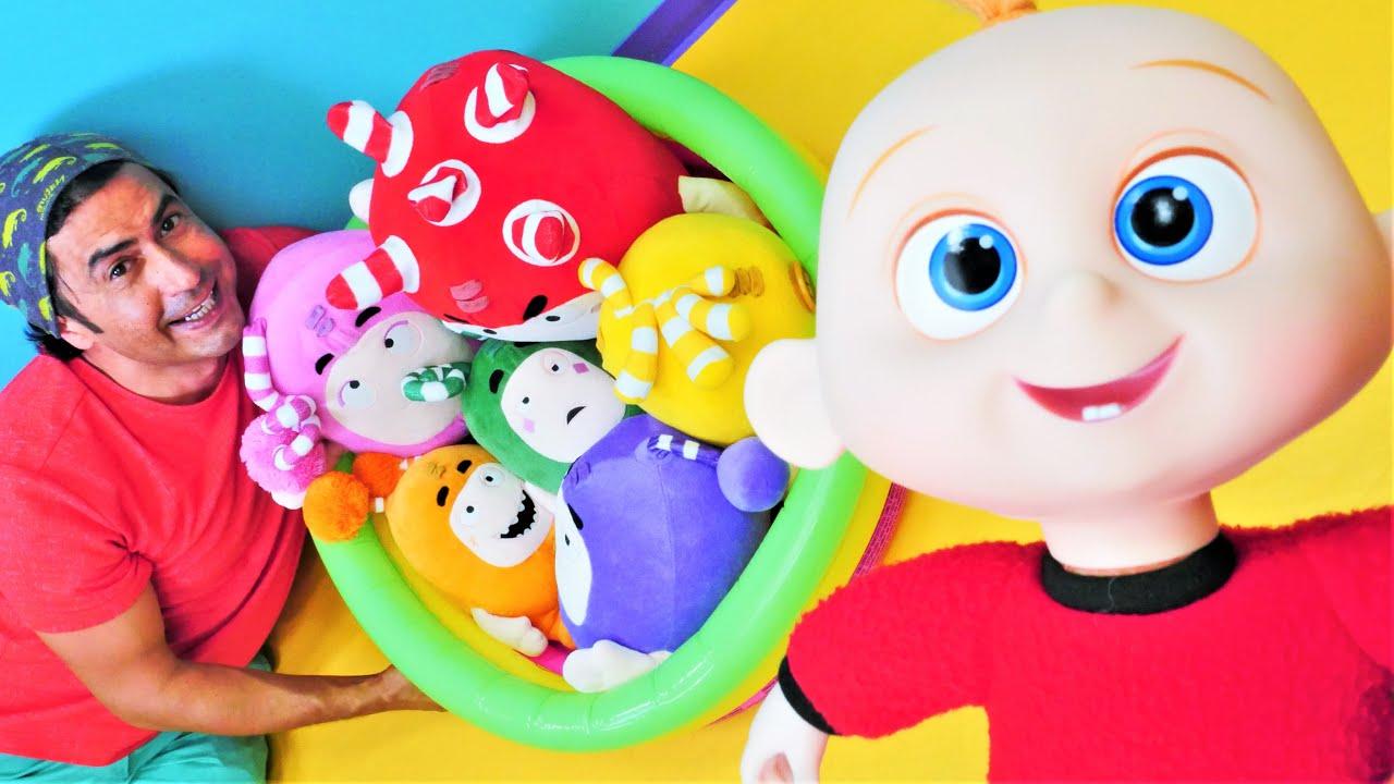 Jack Jack'in dağıttığı PJ Masks top havuzunu Oddbods topluyorlar