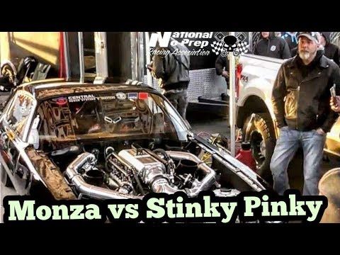 Monza twin turbo Camaro vs Stinky Pinky at Memphis No Prep Kings 2