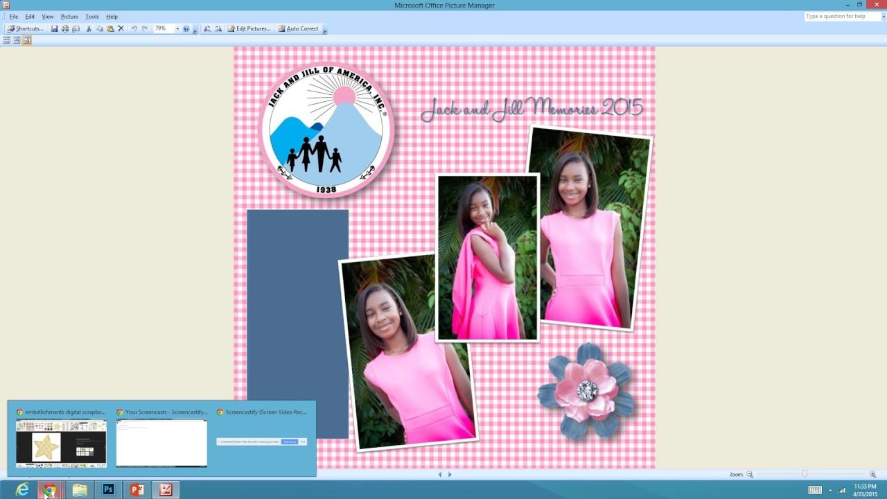 powerpoint scrapbook template