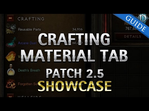 Diablo 3 Crafting Material Tab Patch 2.5 Showcase