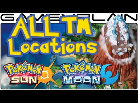 All TM Locations in Pokémon Sun & Moon (Guide & Walkthrough)