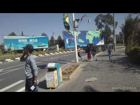 Walking to Addis Ababa, Bole Airport