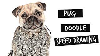 Pug Doodle Speed Drawing   Vivian Wong