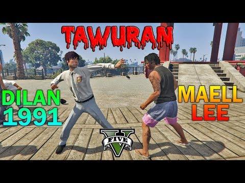 TAWURAN!! PREMAN TERKUAT VS DILAN 1991 - GTA 5 PARODY KOCAK