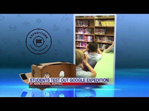 Buffalo school one of the first to test out Google Expedition Program, explore the world