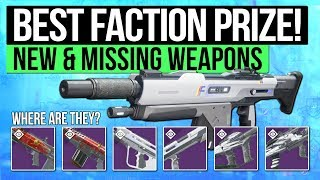Destiny 2 | BEST FEATURED FACTION WEAPON! - Best New Faction Guns & Missing Rewards! (January 2018)
