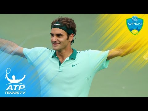 Roger Federer Electric Air-time Smash Vs Monfils! |