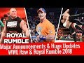 Huge Updates & Major Announcement For Royal Rumble 2018 & Raw 18 December 2017 12/19/2017 Highlights