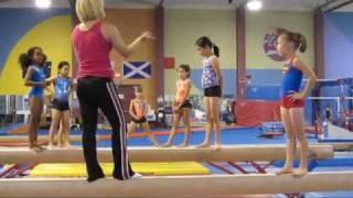 2009, Sophie O, BC (Canada) gymnast training