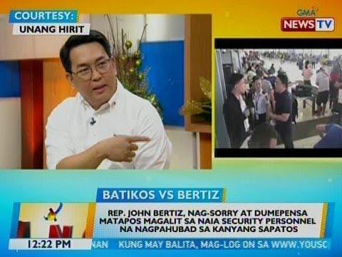 BT: Rep. Bertiz, nag-sorry at dumepensa matapos magalit sa NAIA security personnel