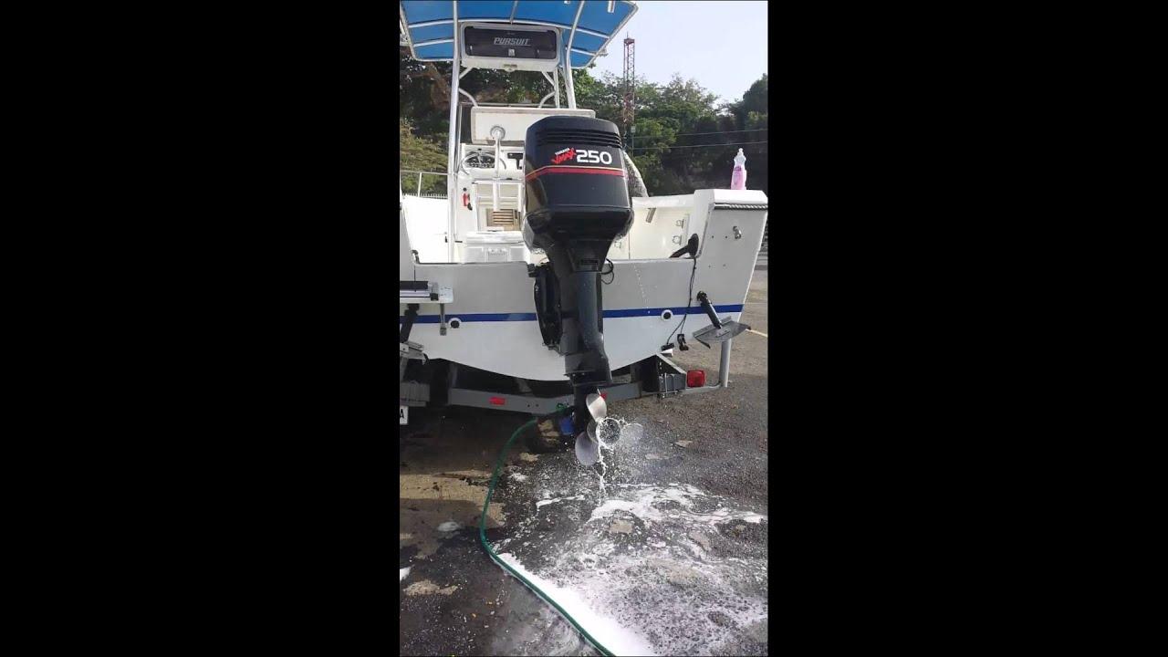 1996 yamaha 250 saltwater series youtube for Yamaha saltwater series ii