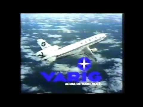 """LINDO COMERCIAL DA """"VARIG"""" VEICULADO NA REDE GLOBO EM 1995"""