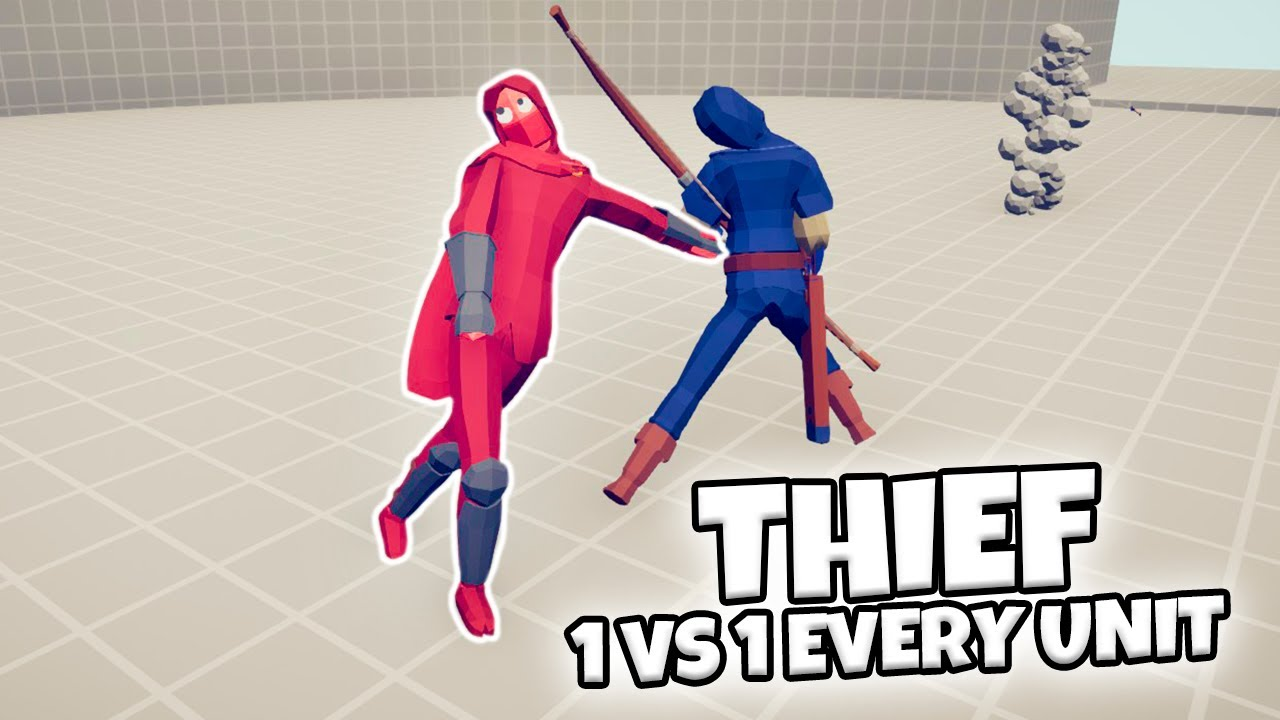 THIEF 1 VS 1 EVERY UNIT | TABS MODDED GAMEPLAY