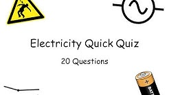 Electricity Quick Quiz - IGCSE Physics