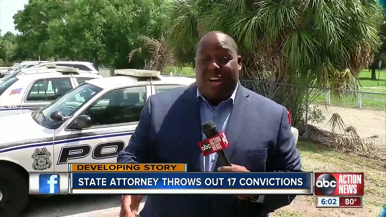 Tampa, Florida: State Attorney Throws Out 17 Convictions
