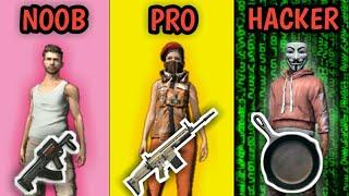 NOOB VS PRO VS HACKER |Part 1 - Garena Free Fire