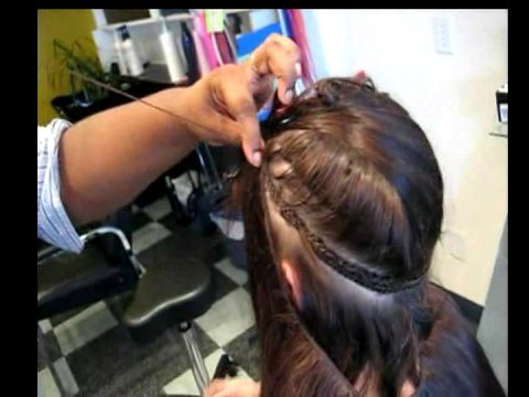 weaving hair extensions youtube