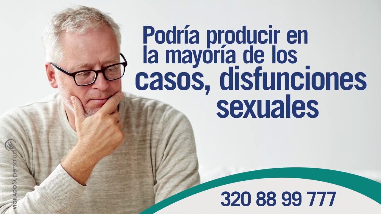 trastornos sexuales de la próstata