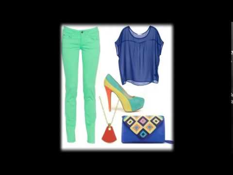 how to wear mint green pants 2014 - outfit ideas