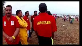 The Sea Guardian Lifeguard On duty at silver beach during Ganesh Visarjan 2016.