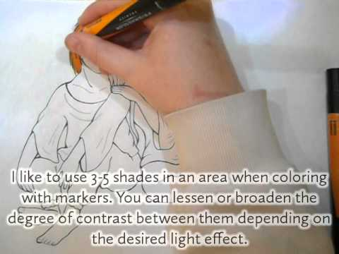 Prismacolor Markers Tutorial: Coloring Hair - YouTube