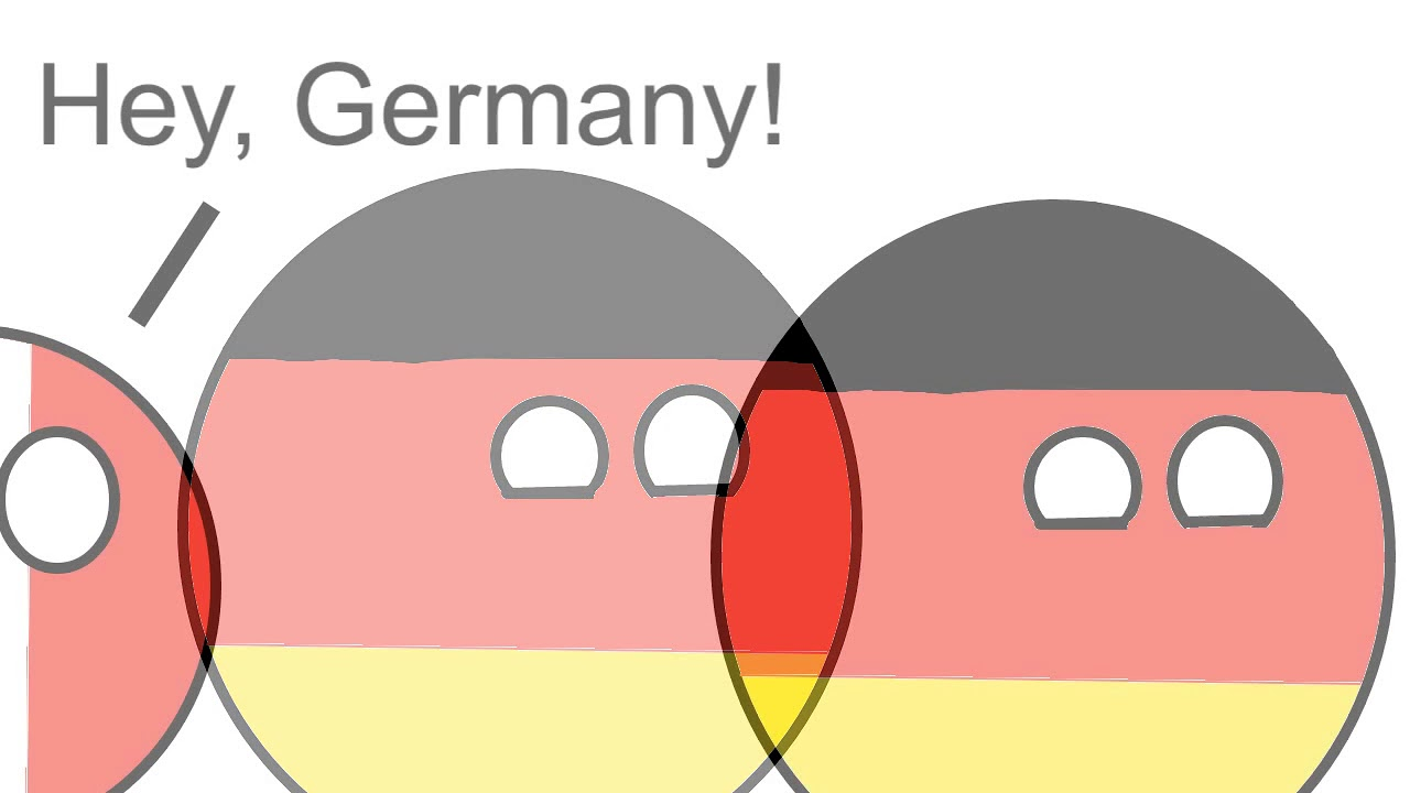 France Germany Polandball Frame Animation Worldball