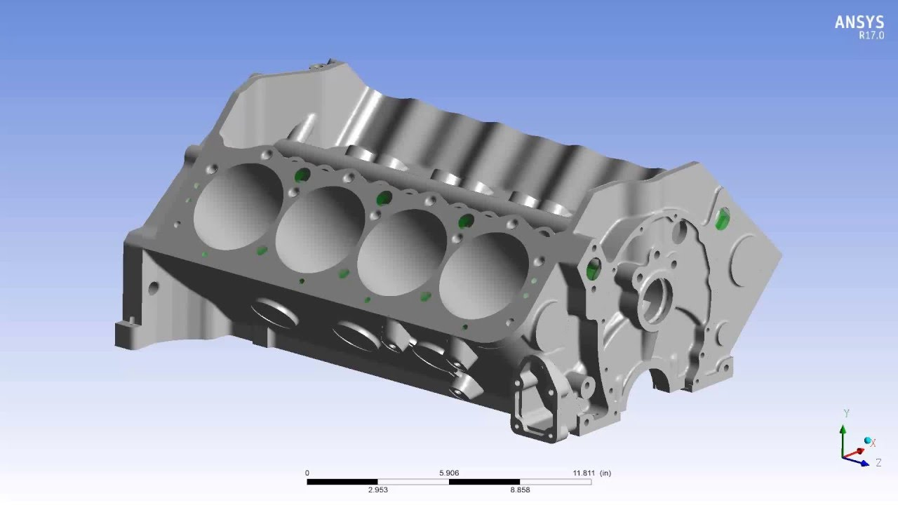hight resolution of cfd engine block coolant flow simulation