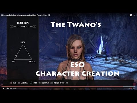 Elder Scrolls Online - Character Creation (Cute Female Wood Elf)