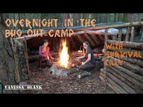 Overnight With Survival Lilly In Her Bugout Camp - Vanessa Blank - 4K