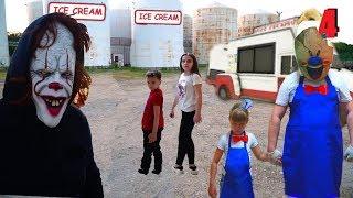 Мороженщик Пеннивайз сошёл с ума ICE SCREAM and PENNYWISE was in REAL LIFE 4