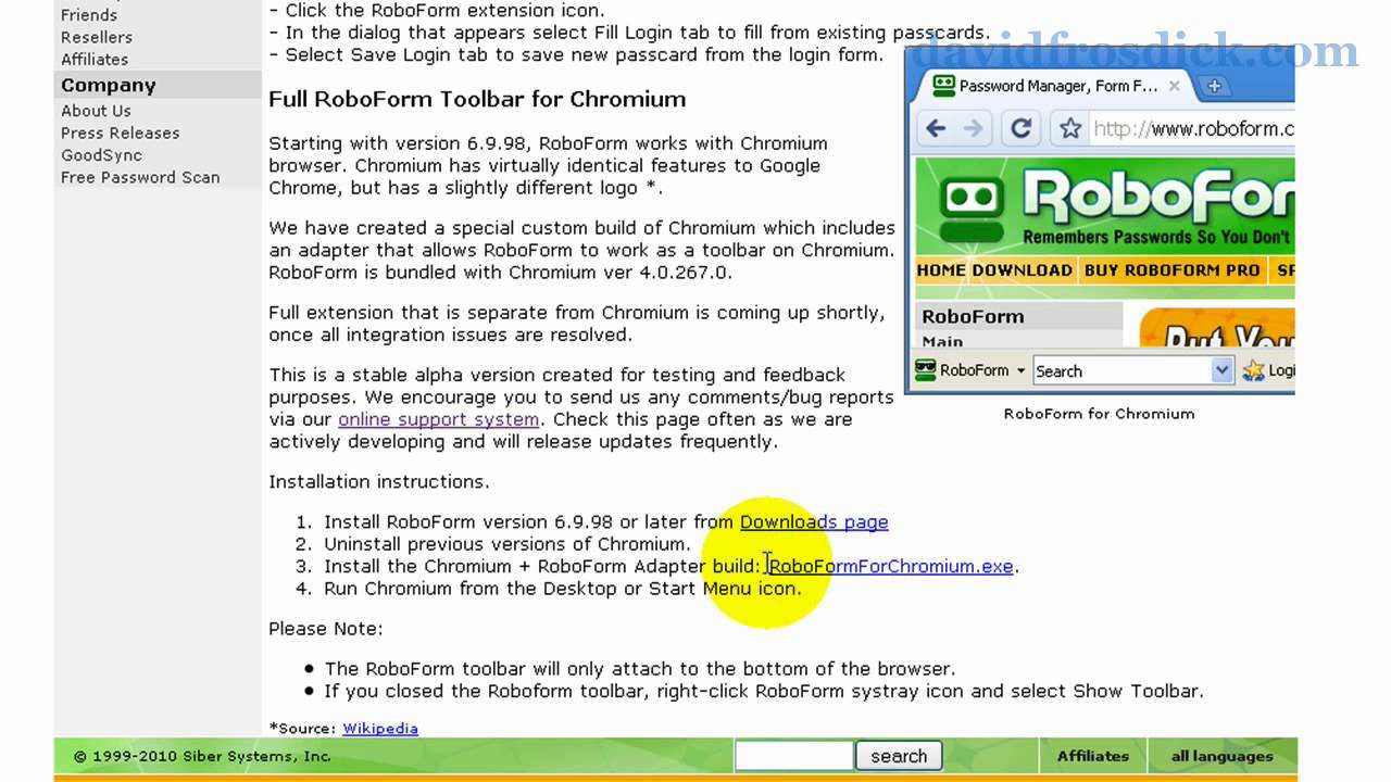 roboform chrome extension download
