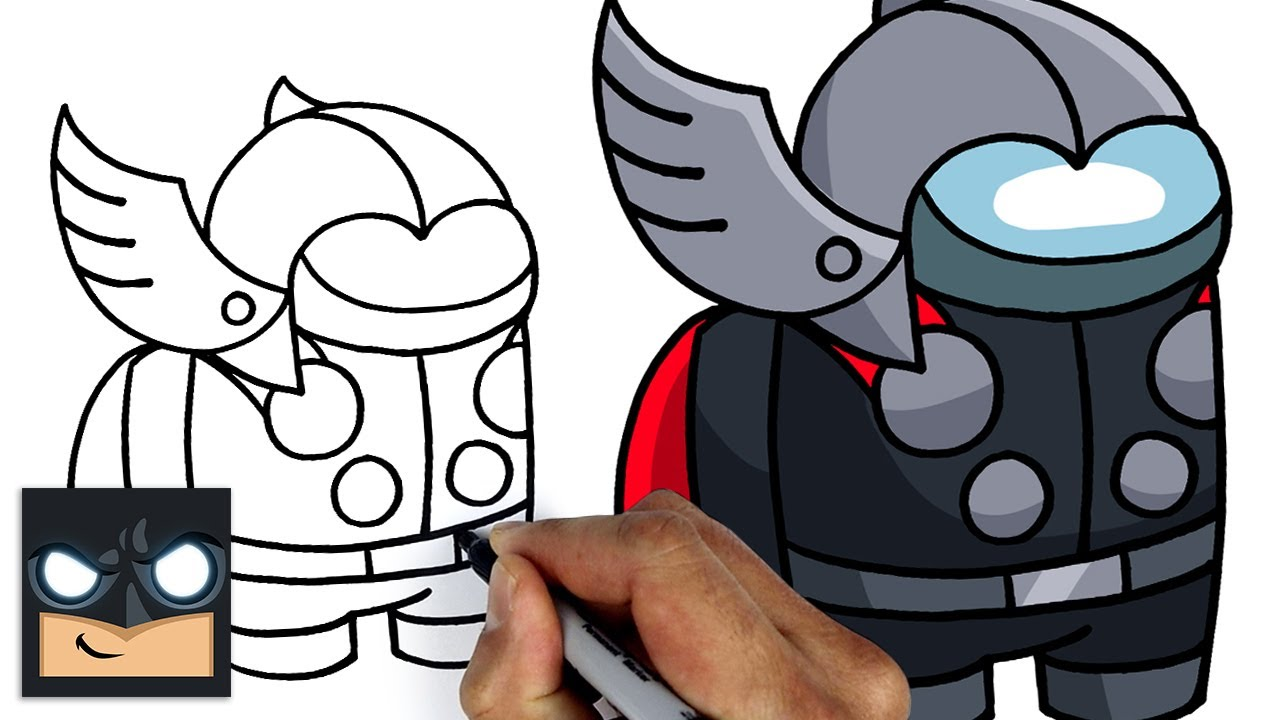 How To Draw Among Us | Thor Crewmate