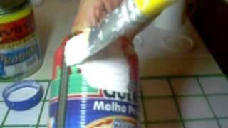 Decoupage em latinha com esmalte base água  - 1ª parte