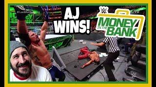 REACTION   AJ STYLES BEATS SHINSUKE NAKAMURA!!!   WWE Money In The Bank 2018