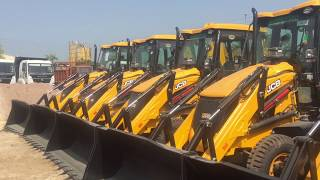 Jcb 3dx Dilevery And Ashok Leland Showroom In Kota Inspection